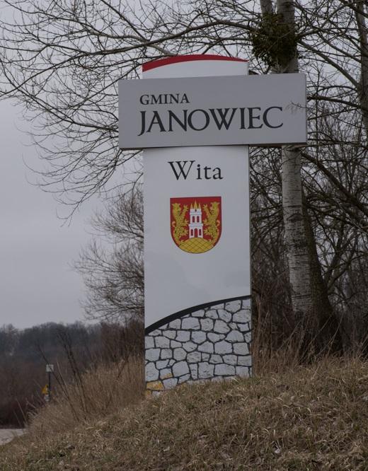 Pylon witacz Janowiec