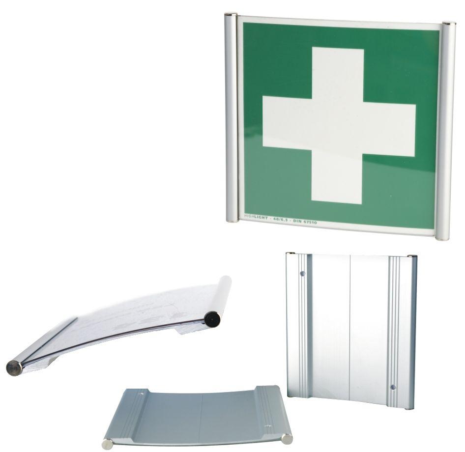 Profilowane aluminiowe tabliczki przydrzwiowe